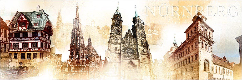 Pro-Art g1380m g1380m g1380m Wandbild Giclée 'Nürnberg' 120 x 40 cm 9e6cf7