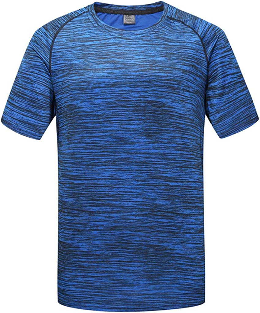 Allywit-Mens Athletic T-Shirt Workout Sports Tech Short Sleeve tee Shirts Gym Dri Fit Training Clothes Big and Tall