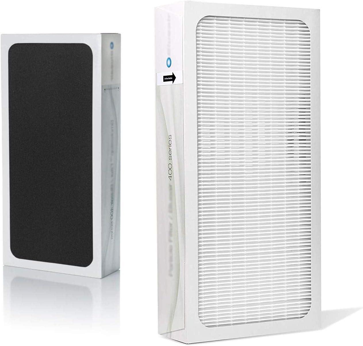 LongRong Hepa - Filtro de carbón activo para Blueair Classic 400 Series compatible con 410 402 403 405 450E 455EB 480i purificador de aire
