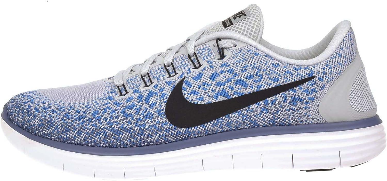 Nike Hombre Free RN Zapatilla de Running Distance (Pure Platinum, océano Niebla) - 827115-044, 14 D(M) US, Pure Platinum/Black-Blue Glow-Ocean Fog: Amazon.es: Deportes y aire libre