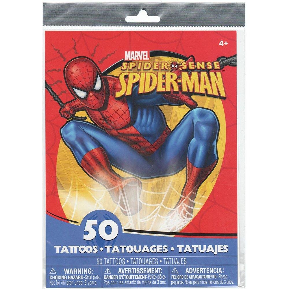 amazon com spider man temporary tattoos 50 tattoos per package