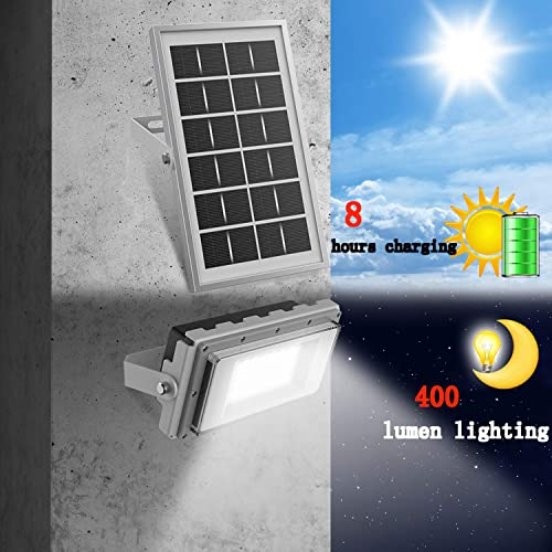 Solar Lights, LOZAYI IP65 Waterproof Outdoor Solar Lights, Motion Sensor 4 Optional Luminance, 3 Timing Modes with Remote Control, Easy to Install Security Flood Lights for Front Door,Yard,Garage,Deck