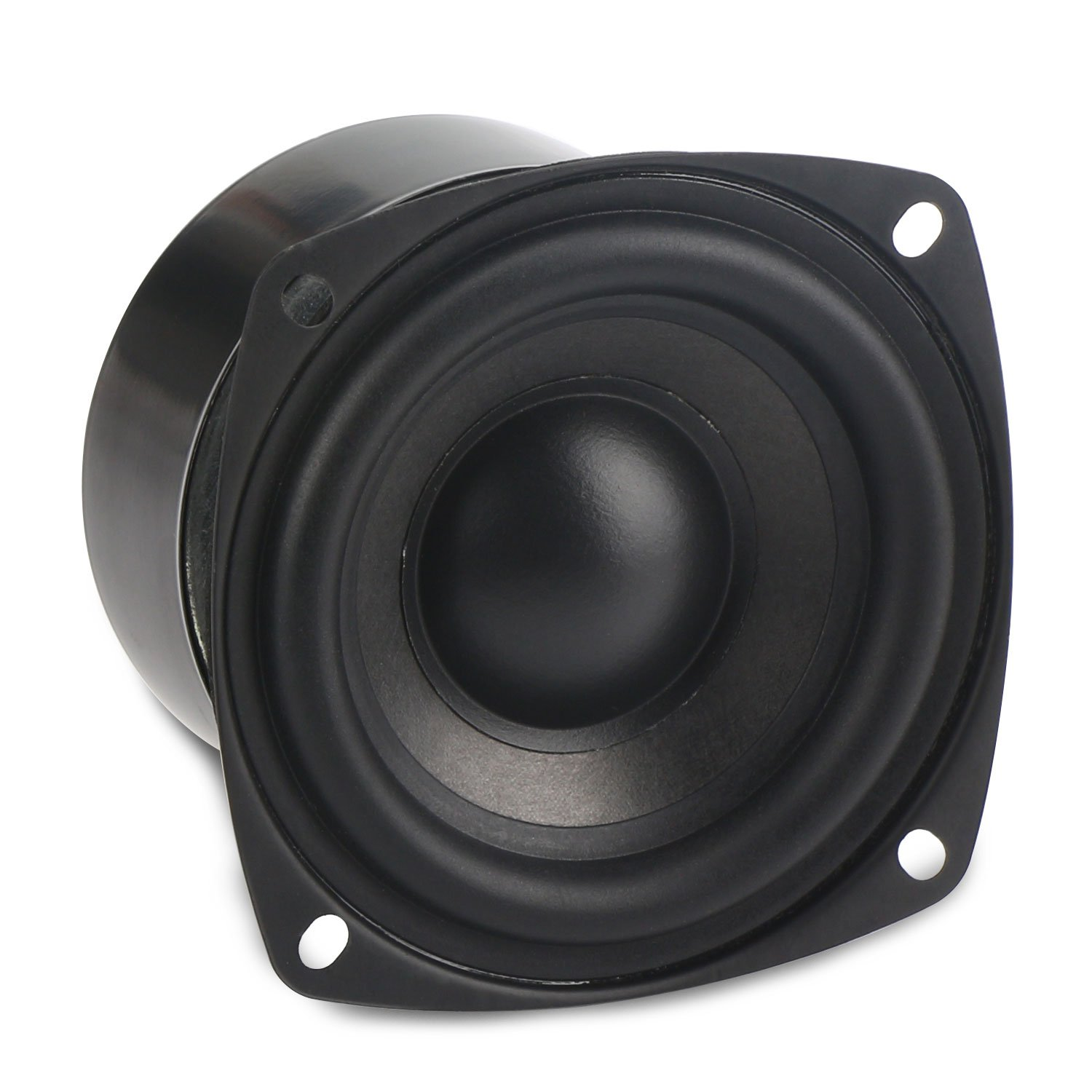 DROK 25W 3 Inch Square Shape 8 Ohm Woofer Speaker Stereo Loudspeaker Computer Compact Speakers, DIY Home Car Audio HiFi Speakers Bass 90Hz-5KHz