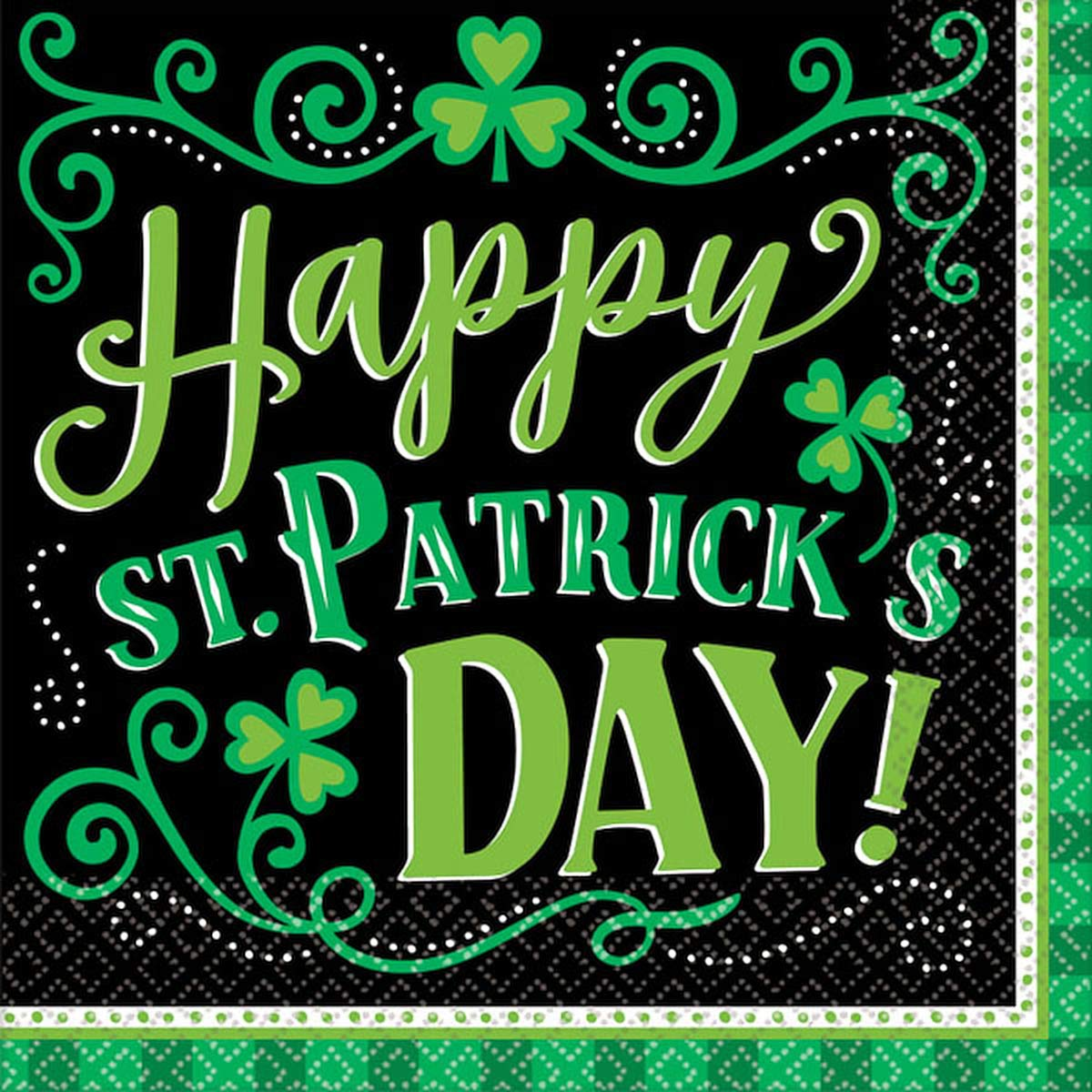 ''St. Patrick's Day'' Clover Me Lucky Bpp Luncheon Napkins, 6.5'' X 6.5'', 6 Pk