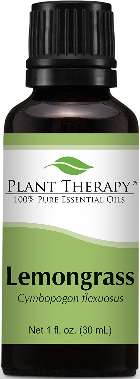 Plant Therapy Lemongrass Essential Oil. 100% Pure, Undiluted, Therapeutic Grade. 30 ml (1 oz).