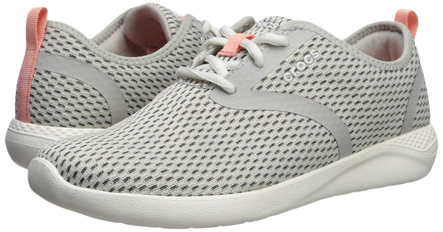 23519b6da3335 Amazon.com | Crocs Women's LiteRide Mesh Lace-up Sneaker, Pearl ...