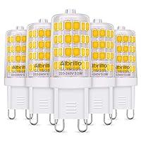 Albrillo 5er Pack 3.5W G9 LED Lampe 400 Lumen, 3000k warmweiß Energiesparlampen G9 LED Leuchtmittel Ersatz 40W G9 Halogenlampe, 360° Abstrahlwinkel
