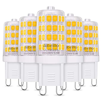 Albrillo G9 LED - 3.5W/ 350LM, Equivalente a 40W, Sin parpadeos,