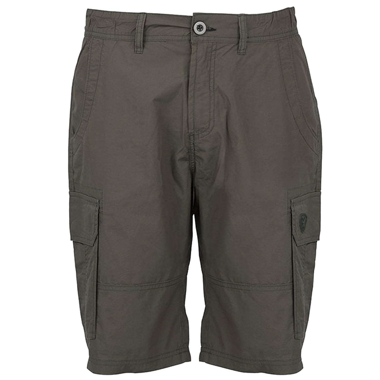 Angelhose Shorts f/ür Angler Fox Green Black Lightweight Cargo Shorts Angelshorts Cargoshorts Anglerhose Hose zum Angeln