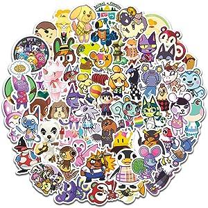 Emotionlin Cute Animal Emoji Stickers 60 PCS Used for Positive Trendy Aesthetic Vinyl Sticker Laptops Water Bottle Hydroflasks Phone Case Skateboard Sticker