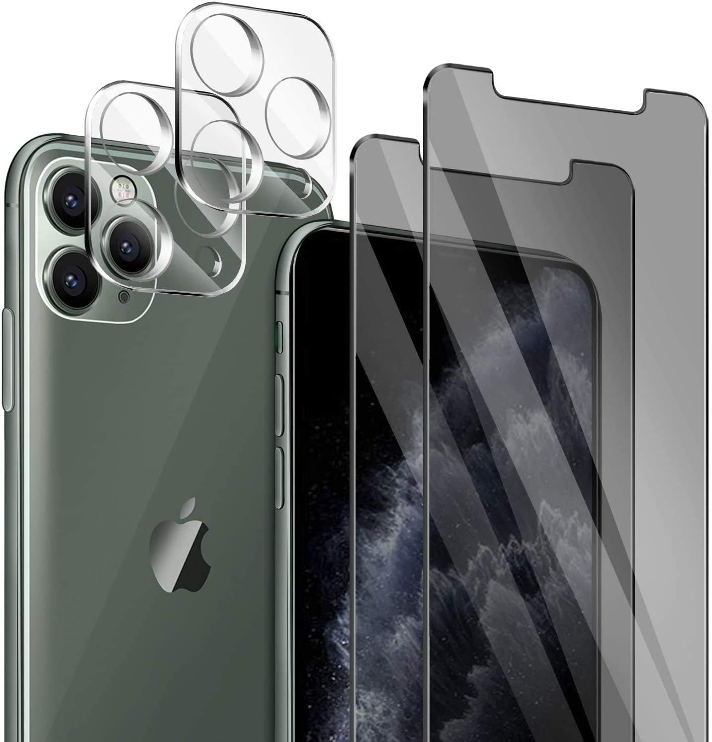 HD Clear 4 Pack No-Bubble 9H Hardness Case Friendly ivencase 2 Pack for iPhone 12 Pro Glass Screen Protector 2 Pack Tempered Glass Camera Lens Protector for iPhone 12 Pro