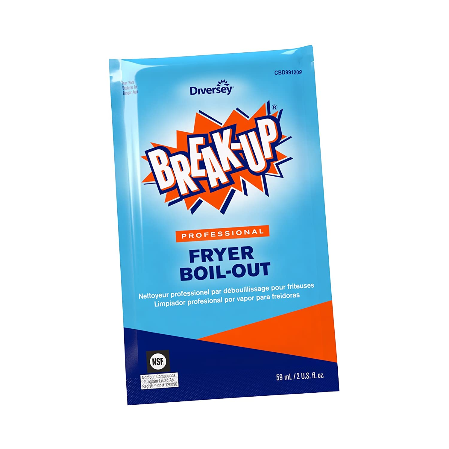 Diversey Break-Up Professional Fryer Boil-Out, 2 oz. Packet (36 Pack)