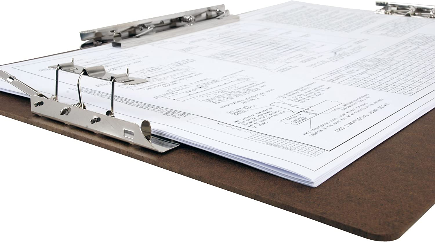 Hardboard Clipboard 8-Inch Hinge and Mousetrap Clip Secure Spreadsheets,Drawings