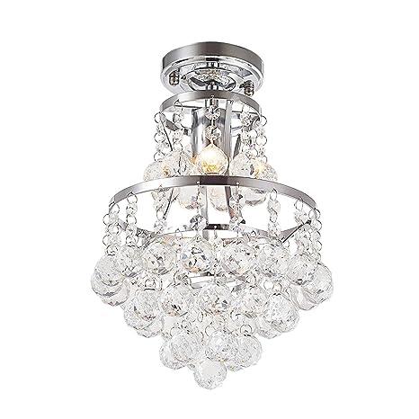 Charmant Flush Mount Crystal Chandelier Lighting Ceiling Light Fixture With 42  Pendant Balls 8u0027u0027 W, 13u0027u0027H For Bedroom Hallway Bar Kitchen Bathroom Vanity  Room ...