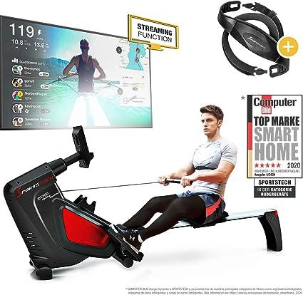 Sportstech RSX500 Máquina de Remo, Smartphone Control, App Fitness ...