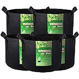 VIVOSUN 300G 生长袋 5-Pack 30 Gallons 黑色 FBA_311001