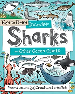Draw ocean animals doug dubosque 9780939217243 amazon books how to draw incredible sharks and other ocean giants packed with over 80 creatures of fandeluxe Images