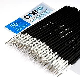 Paquete de 50 pinceles sintéticos para pintura acrílica, óleo y ...