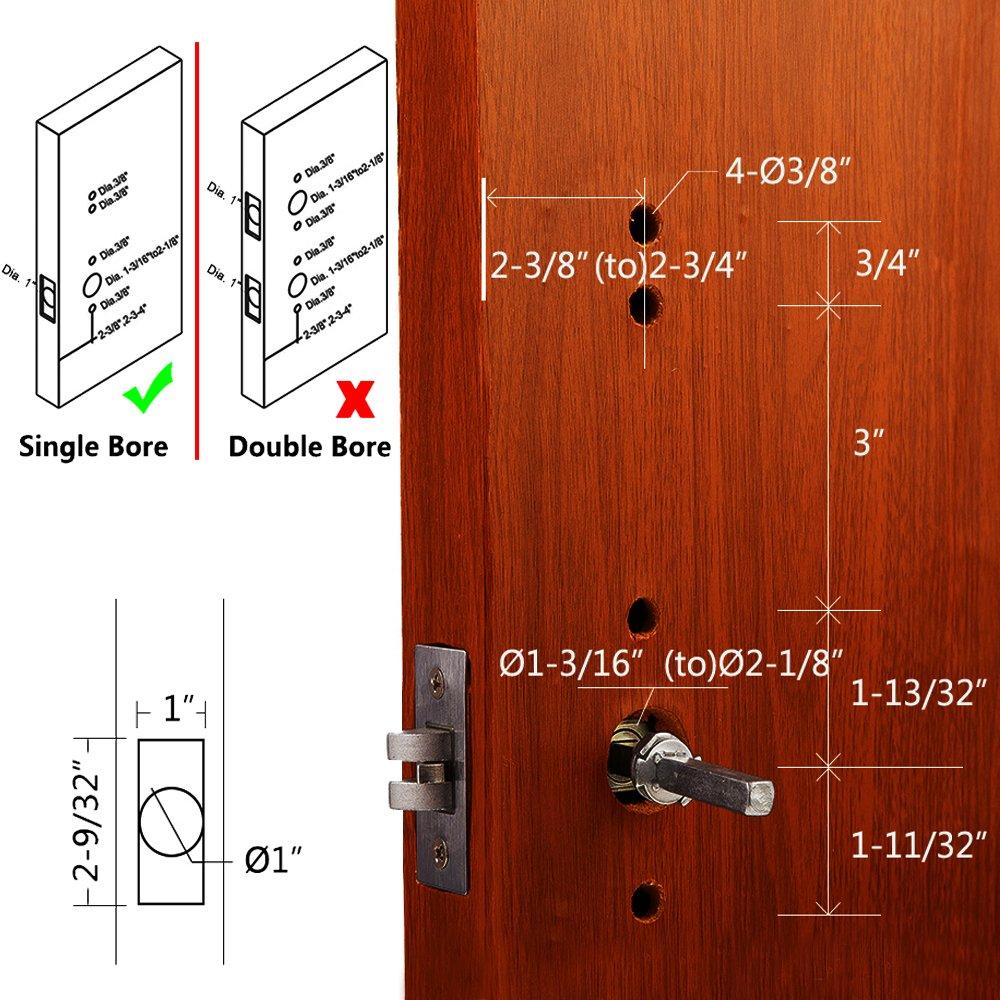 Left Handed Mechanical Keyless Entry Door Lock Digital Code Password Entry  Keypad Security Combination Borehole Handle Doors Not Deadbolt Stainless