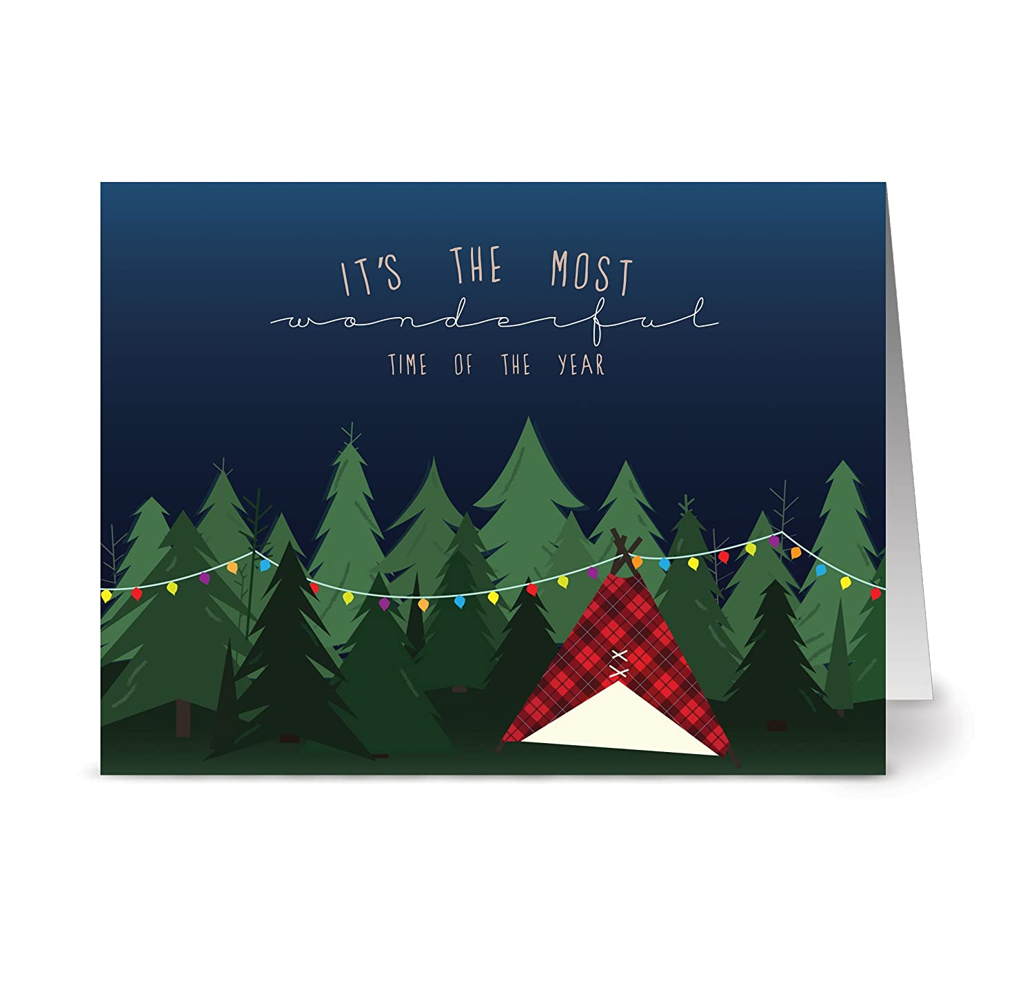 Amazon.com: 72 Holiday Note Cards - Woodland Holiday - 6 Designs ...