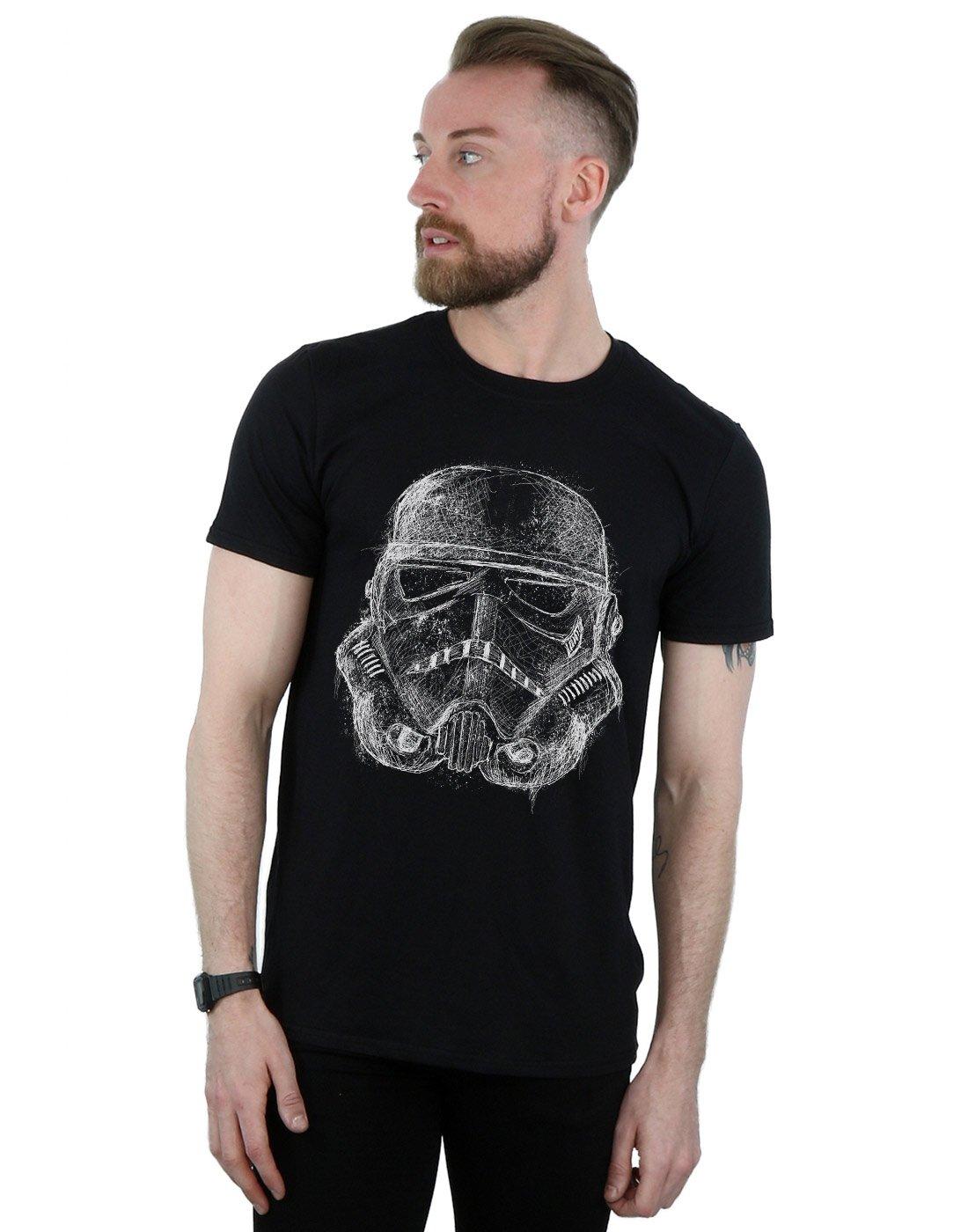 Stormtrooper Scribble Helmet T Shirt 1576