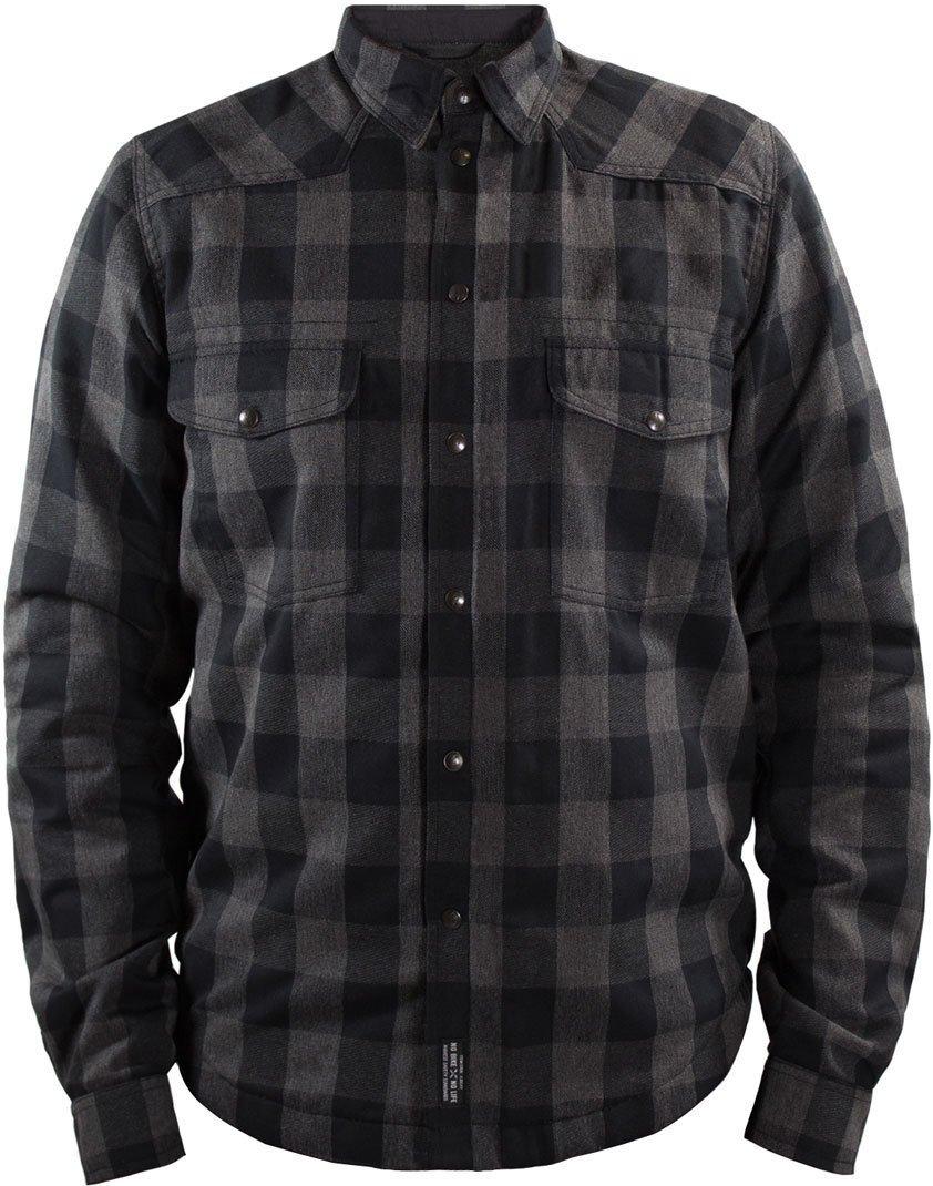 Kevlar John Doe motoshirt Grey//Black avec XTM-Fiber