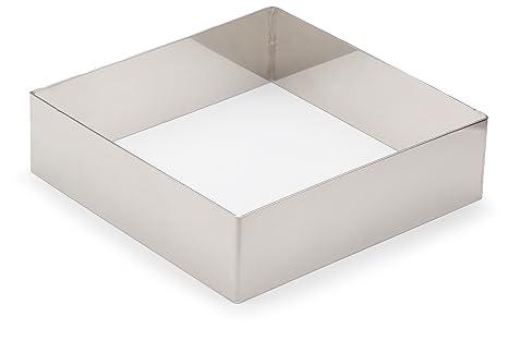 Lacor 68441 - Molde aro cuadrado, 14 x 14 cm, inoxidable