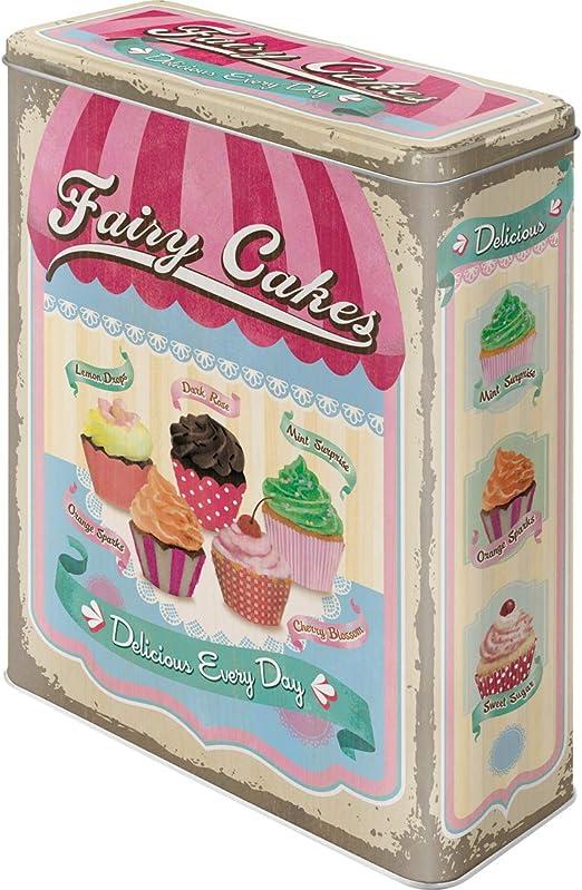 Nostalgic-Art Caja metálica de Estilo Retro - Fairy Cakes - Cup ...