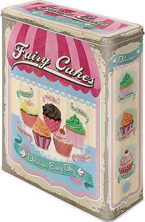 Nostalgic-Art Caja metálica de Estilo Retro - Fairy Cakes - Cup Cakes: Amazon.es: Hogar