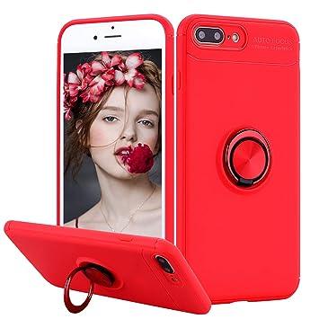 Ailisi Funda iPhone 7 Plus, Funda iPhone 8 Plus con Anillo Soporte, 360 Grados Giratorio Finger Ring Grip con Kickstand Gel TPU de Silicona Protector ...