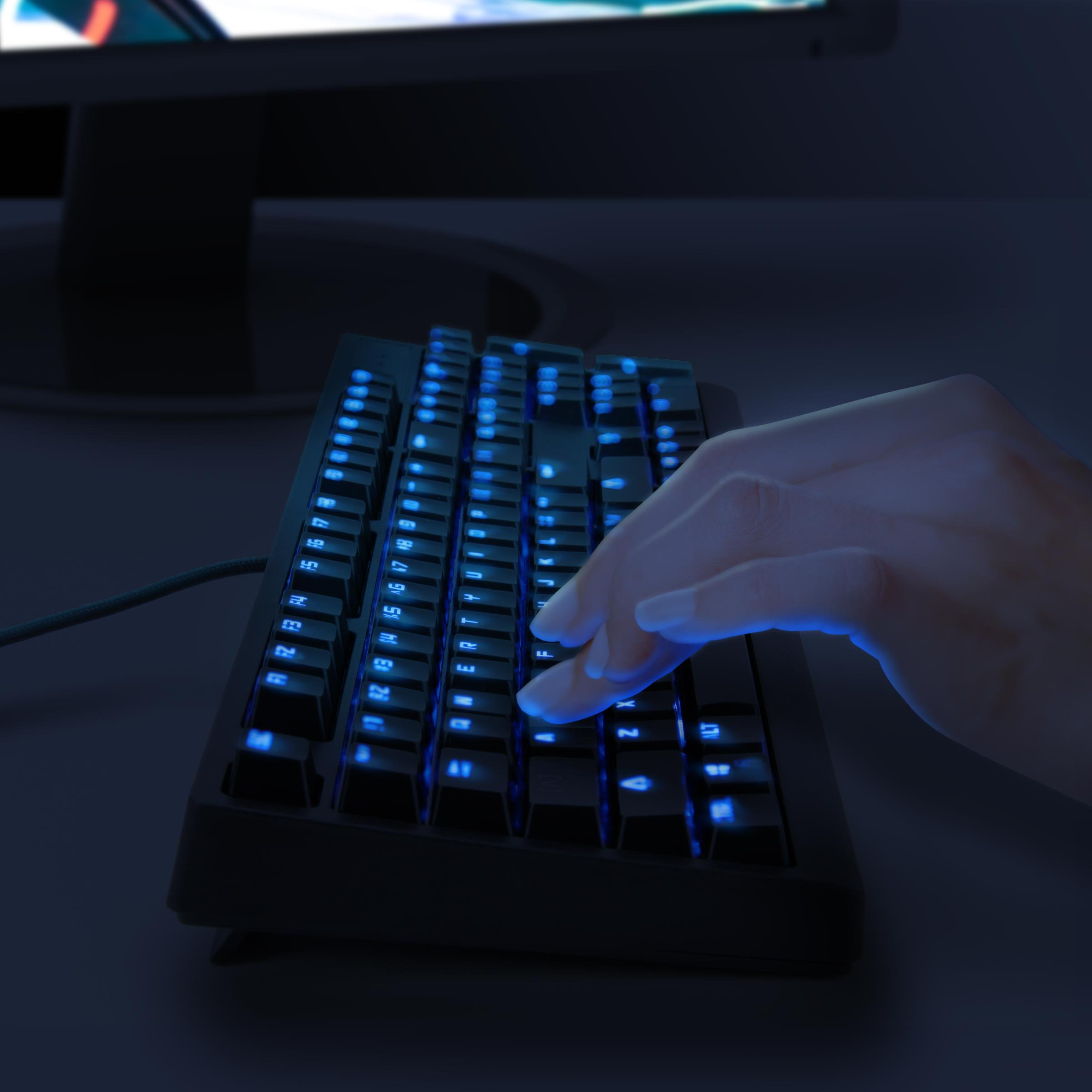 ENHANCE GX-K5 FPS Mechanical Gaming Keyboard with Blue LED Backlighting & TTC Brown Tactile Switches – Great for Counter-Strike: Global Offensive , Overwatch , Call of Duty: Black Ops III & More Games by ENHANCE (Image #8)