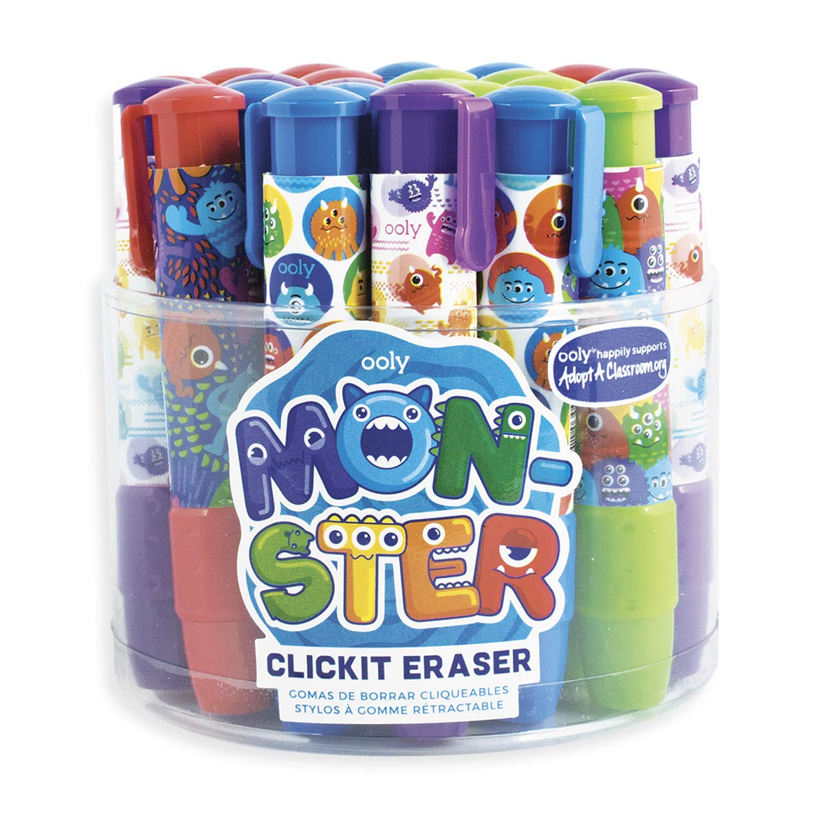 Click It Erasers - Tub of 24 - Monsters