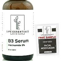 Niacinamide 5% Vitamin B3 Serum. The Best Anti Aging Face Cream. Tightens Pores...