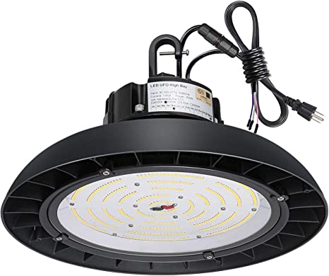 150 Watt High Bay LED UFO Light 5000K With Motion Sensor Replace 400W MH//HPS