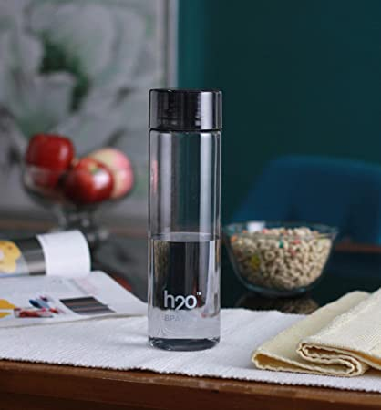 b841c76142 Buy H2O Plastic Water Bottle, 1 Litre, Black Online at Low Prices in India  - Amazon.in