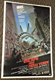 KURT RUSSELL SIGNED ESCAPE FROM NEW YORK 27X40 FULL SIZE POSTER AUTOGRAPH BECKET