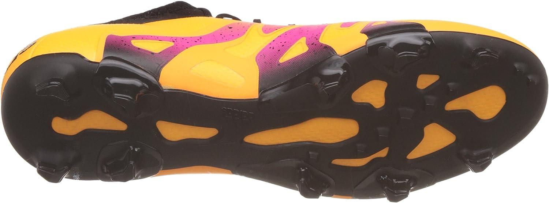 adidas X 15.1 Fg/Ag, Chaussures de Football Compétition Homme, Mehrfarbig, Orange Solar Gold Core Black Shock Pink