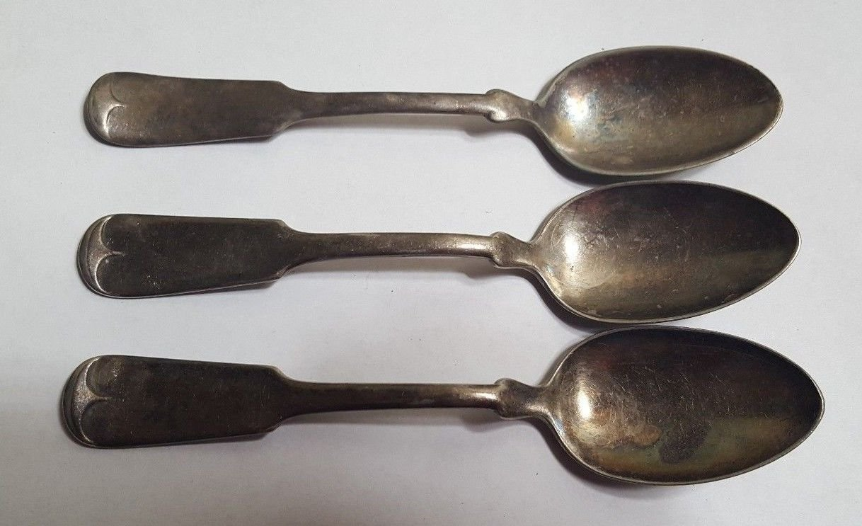 1847 ROGERS BROS XS Triple Silver Plate Dessert Spoons Set of 3
