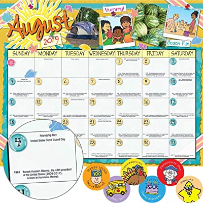 Really Good Stuff Monthly Calendar Pages and Stickers 2020 2020 Intermediate: Toys & Games