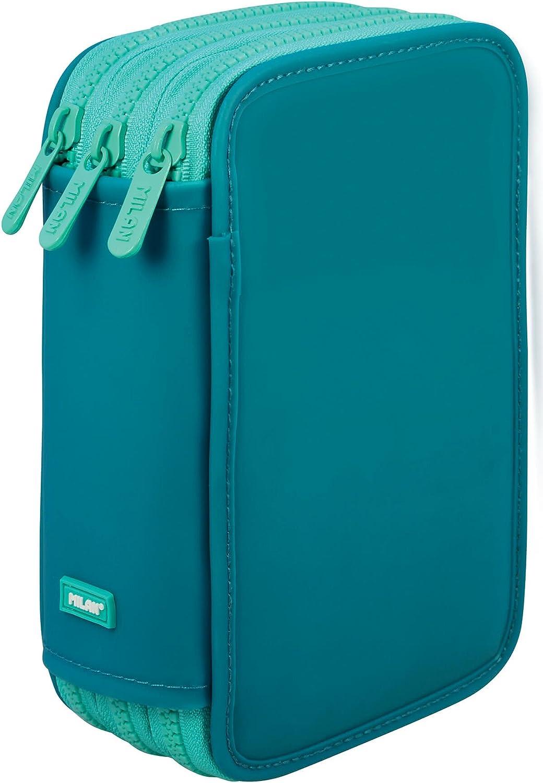 Estuche Milan Matt II Turquoise Triple 53 Piezas: Amazon.es: Oficina y papelería