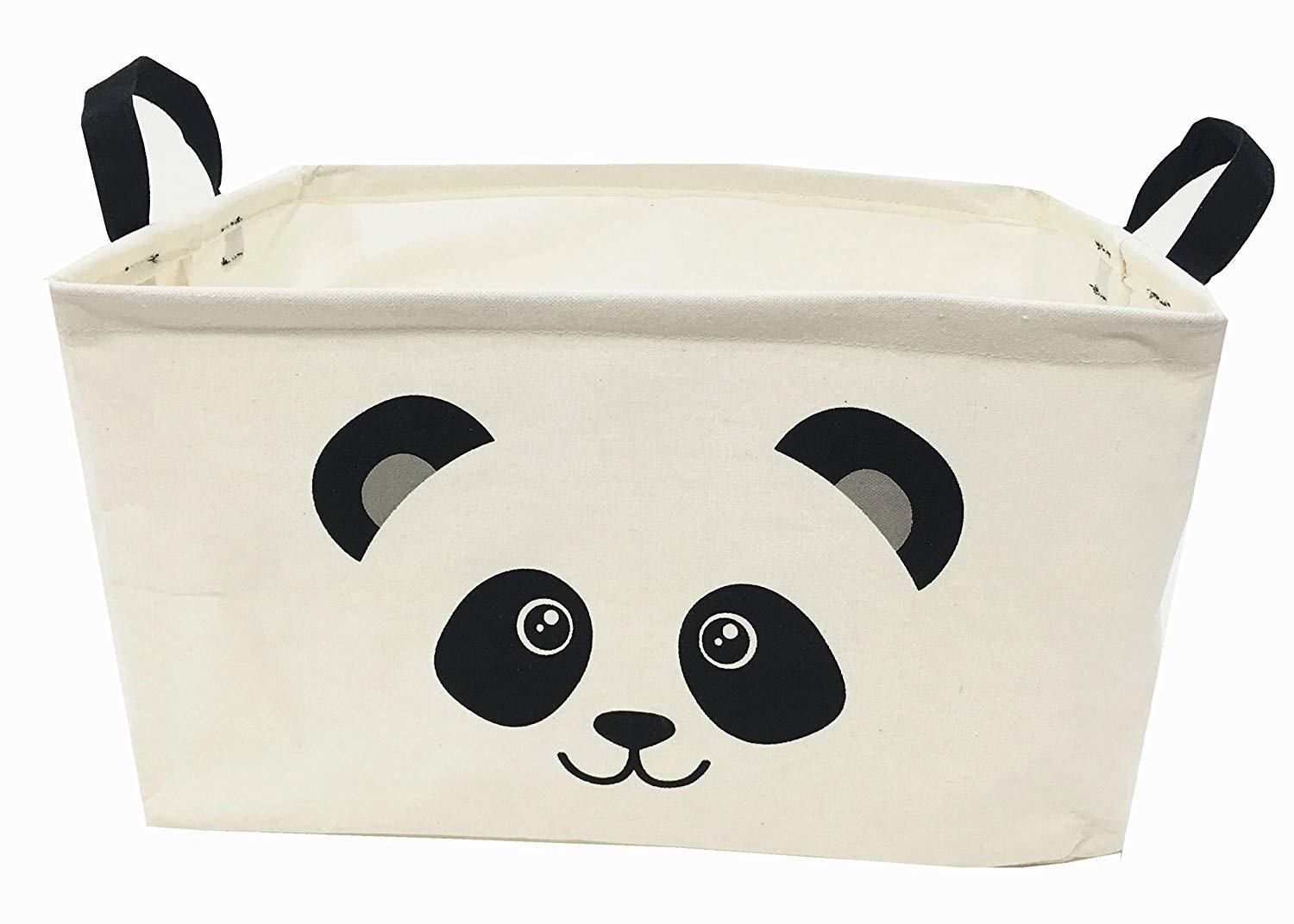"JoyMall Foldable Storage Basket,Collapsible Storage Bins Works As Baby Storage, Toy Storage (White(Panda)) - Size: Medium - 15"" L x 10"" W x 9"" H; Color: White Cotton & Linen outside+ waterproof PE coating lining. Collapsible construction. Folds down for easy storage while not in use. - living-room-decor, living-room, baskets-storage - 71Pldp0Uv8L -"