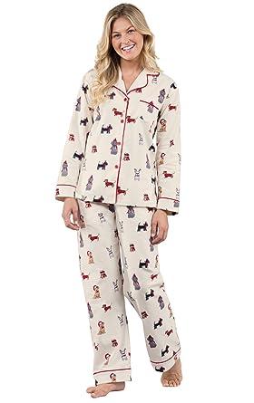 60fcac9b9706 PajamaGram Womens Pajamas Soft Cotton - Flannel PJs for Women