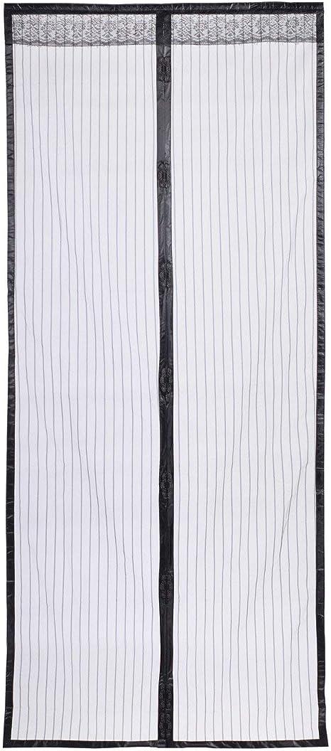 Homein Mosquitera Puerta Exterior Magnética Corredera Cortina, Negro 100 * 210cm, con Malla Super Fina Para Dejar Pasar el Aire Fresco, 26 Imanes Automáticamente Se Cierra Efectivamente: Amazon.es: Hogar