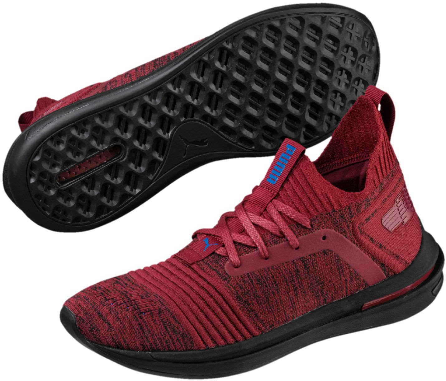 Puma Herren Ignite Limitless SR Evoknit Schuhe Pomegranate/Strong Blue