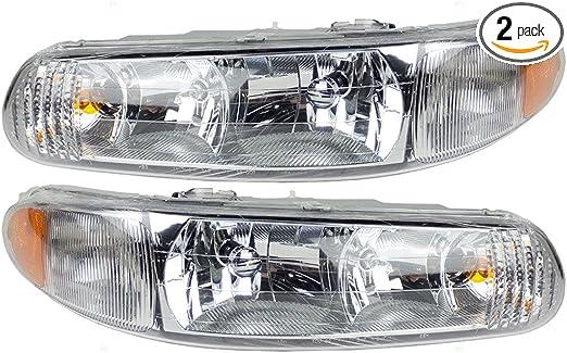 Passenger Side with Install kit -Chrome 2004 Buick Lesabre Post Mount Spotlight 100W Halogen Larson Electronics 1015P9ILAOM 6 inch