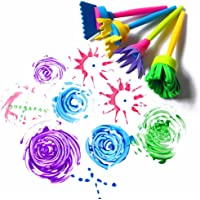 Kelaina 4çocuk Kids Graffiti sünger fırça DIY Art Resim aletler