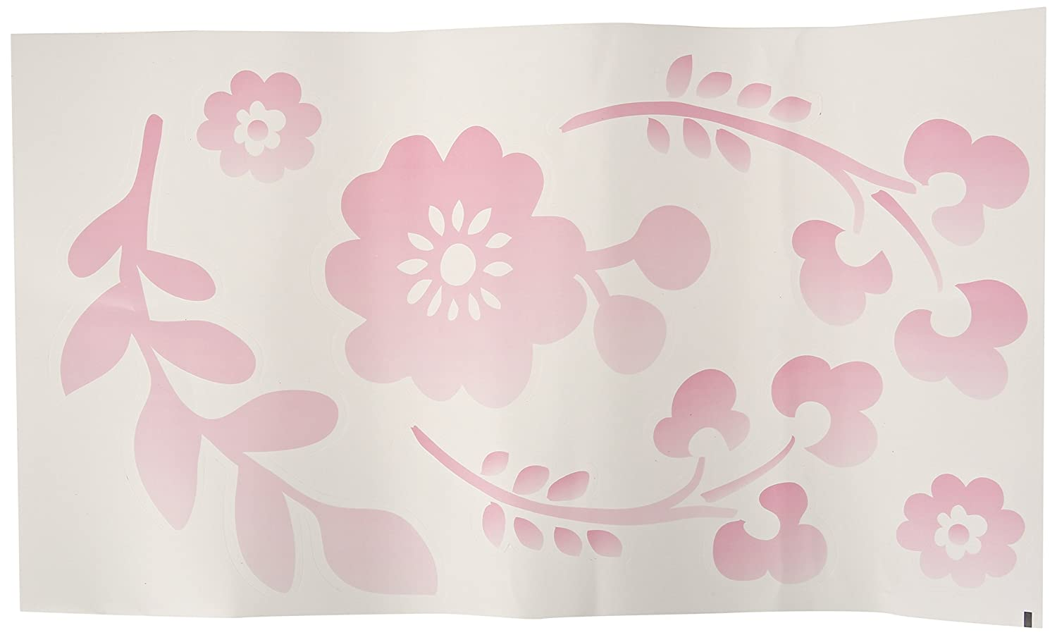 Lambs & Ivy Swan Lake Wall Appliques, Pink/White/Grey 573048