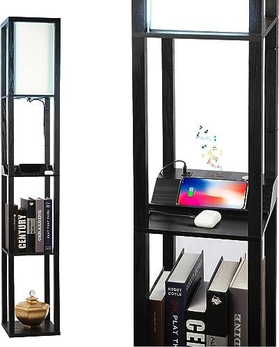 3 Way Dimmable Touch Control Wireless Speaker Shelf Floor Lamp