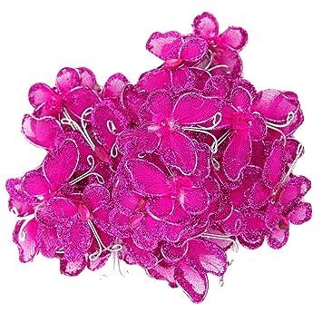 50pcs wired mesh stocking glitter butterflies shocking pink 50pcs wired mesh stocking glitter butterflies shocking pink mightylinksfo
