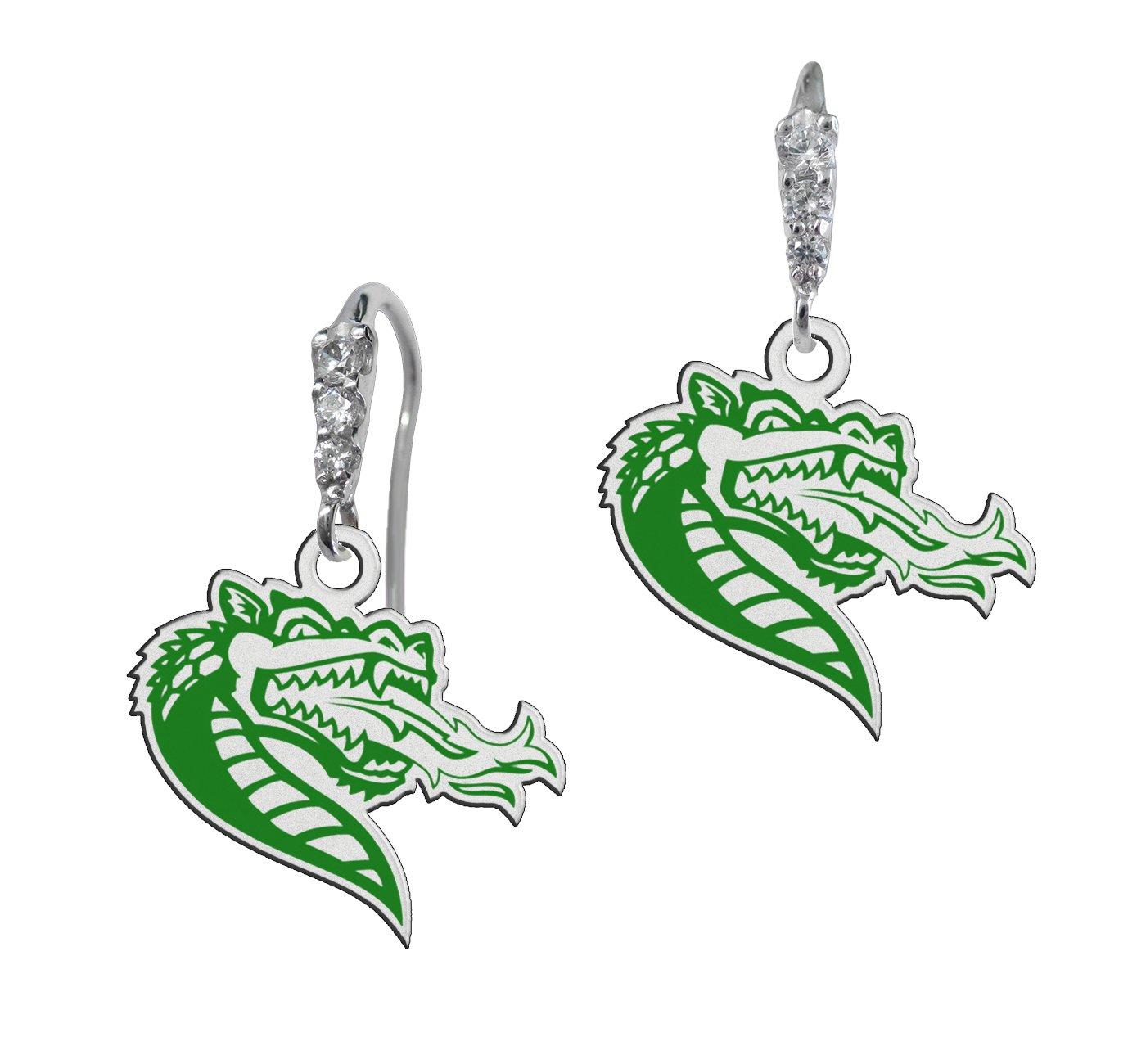 Alabama Birmingham Blazers Cz Logo Earrings